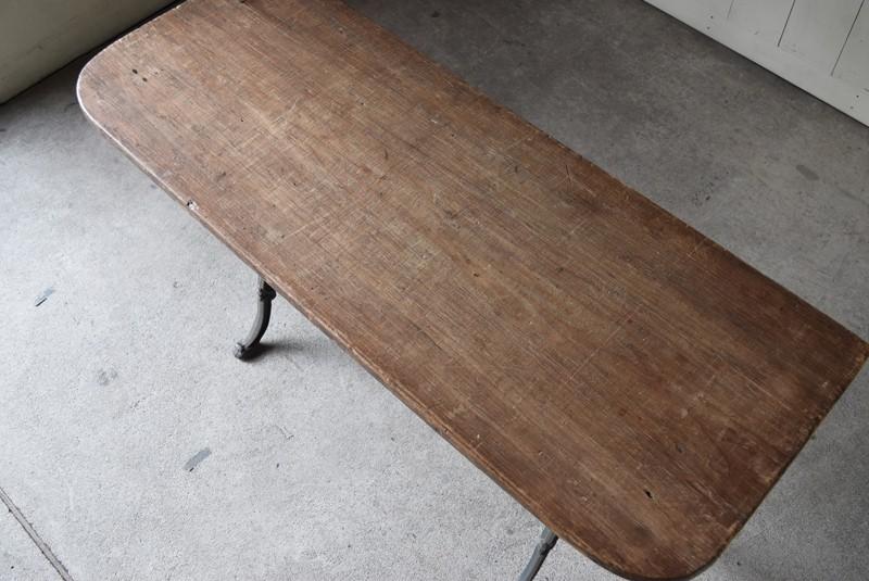 俯瞰,アンティーク,鉄脚,テーブル,什器,作業台,フランス