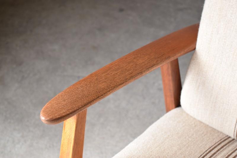 アームデザイン,3人掛けソファ,デンマーク,チーク材,ヴィンテージ,60's,70's、