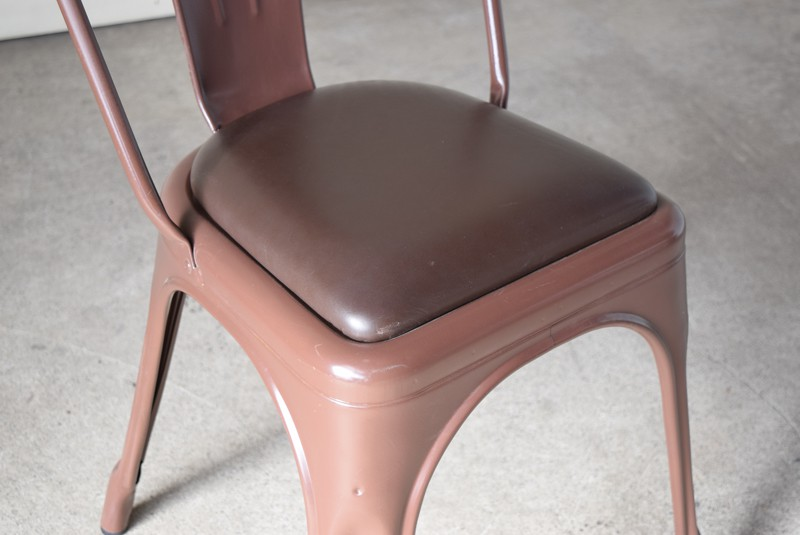 シートパッドが付いた特別仕様,ヴィンテージ,椅子,TOLIX,Aチェア,フランス製,カフェチェア