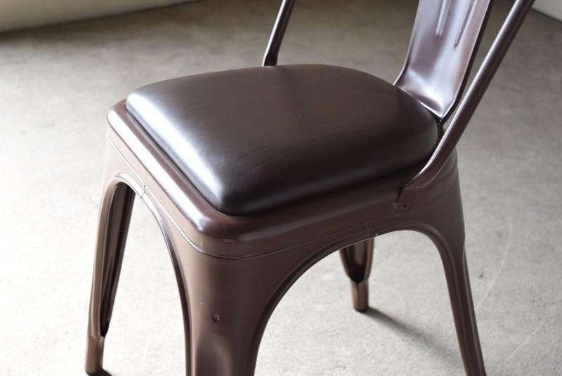 厚みのあるシートパッド,ヴィンテージ,椅子,TOLIX,Aチェア,フランス製,カフェチェア