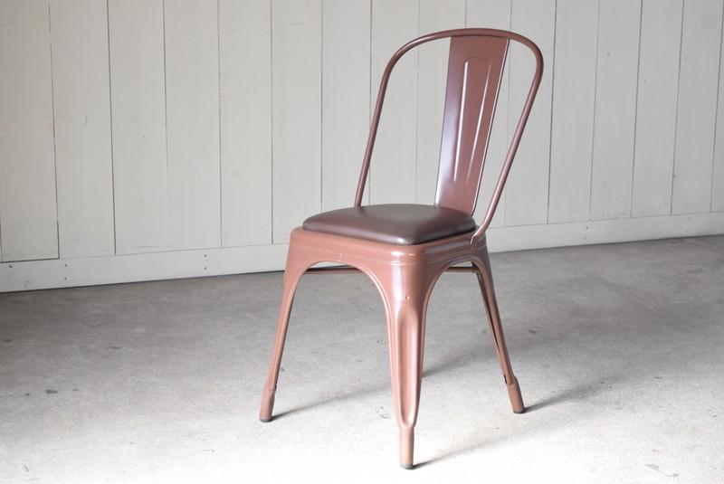 カラーはモカブラウン,ヴィンテージ,椅子,TOLIX,Aチェア,フランス製,カフェチェア