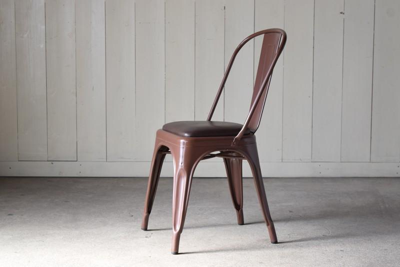 側面,ヴィンテージ,椅子,TOLIX,Aチェア,フランス製,カフェチェア