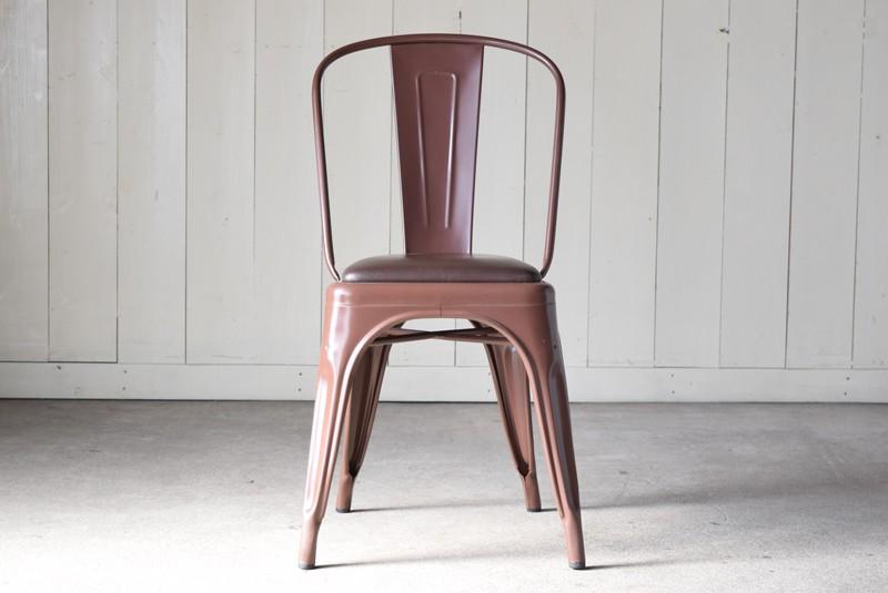 正面,ヴィンテージ,椅子,TOLIX,Aチェア,フランス製,カフェチェア