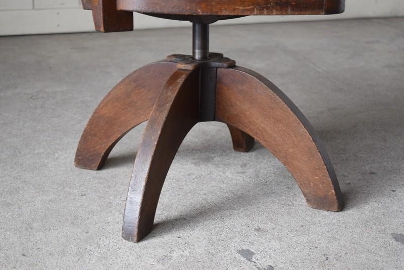 脚元,アンティーク,ヴィンテージ,チェア,椅子,回転椅子,郵便局,木製