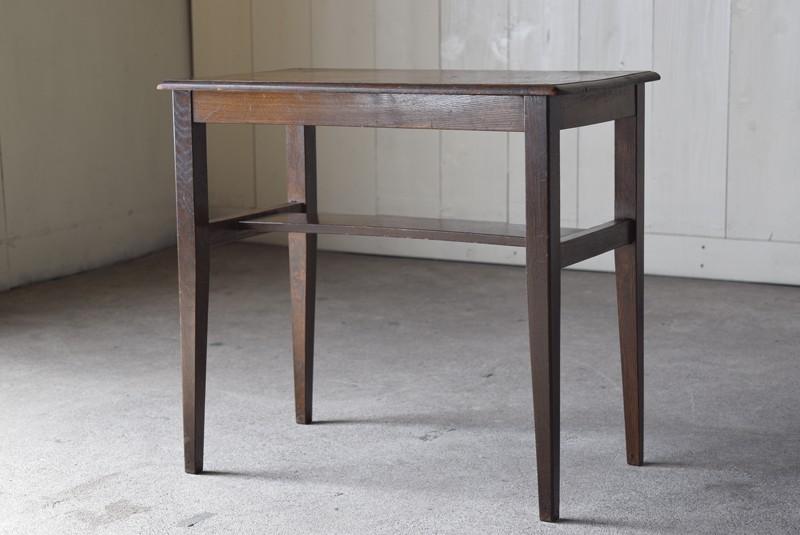 逆側,アンティーク,ヴィンテージ,サイドテーブル,ローテーブル,ナイトテーブル,こげ茶,深い色味