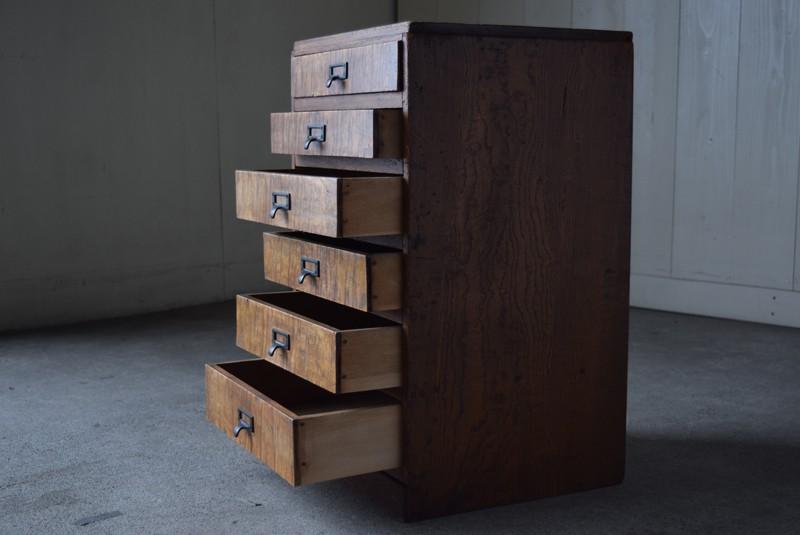 引き出しは全部で6杯,アンティーク,ヴィンテージ,収納,小物入れ,A4,書類ケース,ドロワーズ,チェスト,引き出し