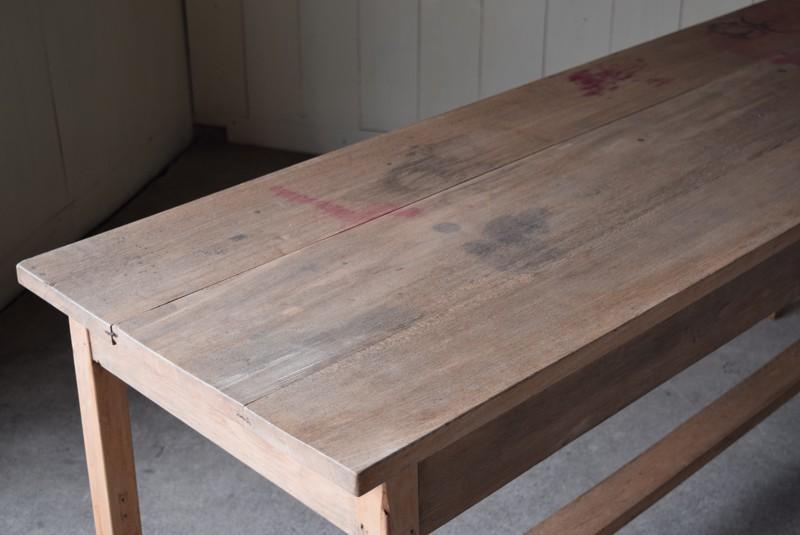 染みや跡も,アンティーク,テーブル,陳列台,作業台,カウンター,長テーブル,ワークテーブル,無垢材