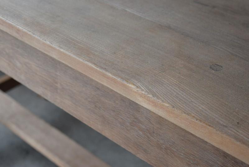 無塗装,アンティーク,テーブル,陳列台,作業台,カウンター,長テーブル,ワークテーブル,無垢材