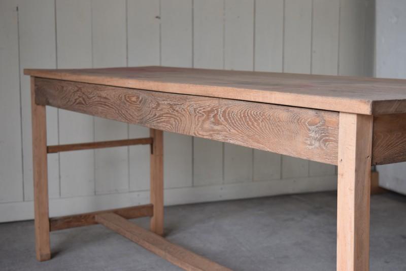 木目が綺麗な幕板,アンティーク,テーブル,陳列台,作業台,カウンター,長テーブル,ワークテーブル,無垢材