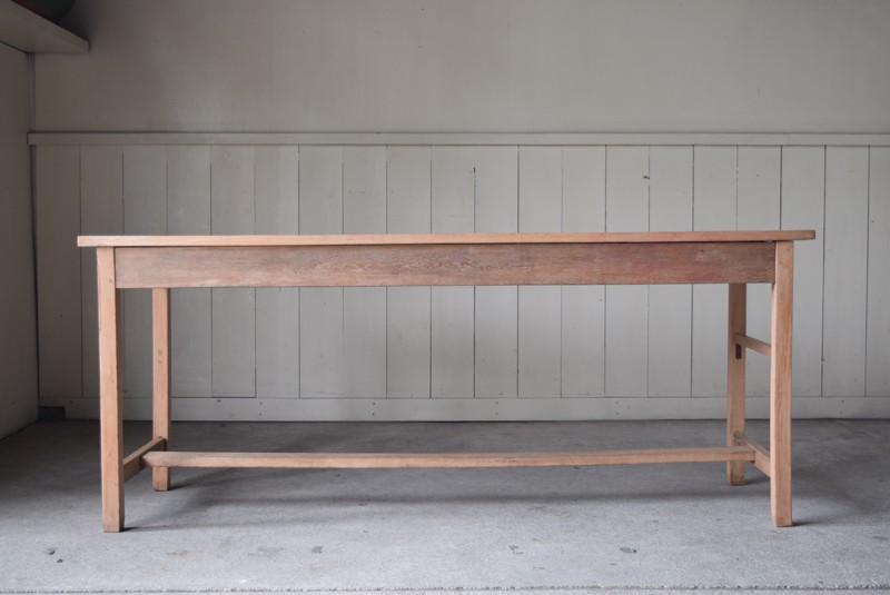 正面,アンティーク,テーブル,陳列台,作業台,カウンター,長テーブル,ワークテーブル,無垢材