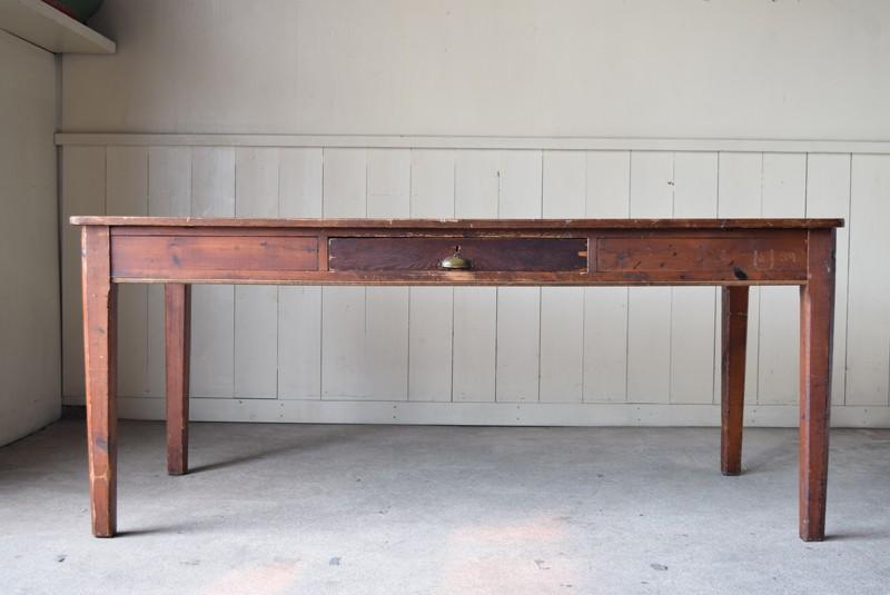 イギリスアンティーク,ダイニングテーブル,特大作業台,ワークテーブル,オールドパイン