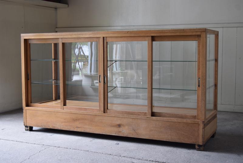 ナラ材の5面ガラス陳列ガラスショーケース