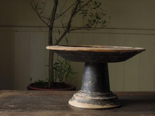 アンティーク,器,高杯,木製,プリミティブ,古道具,フルーツ,ブロカント