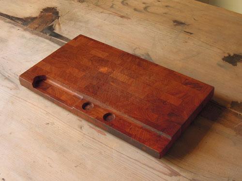 きれいな寄せ木のカッティングボード,アンティーク,カッティングボード,まな板,北欧雑貨,デンマーク,チーク,DIGSMED,ディグスメッド