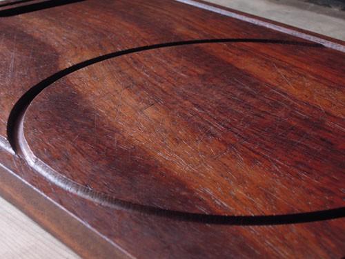 ナイフ傷はあるもののまだまだ永く使えます,アンティーク,カッティングボード,まな板,北欧雑貨,デンマーク,チーク材