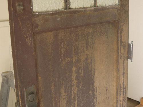塗装擦れあり,アンティーク,ヴィンテージ,ドア,玄関ドア,白,ペイント,ガラス