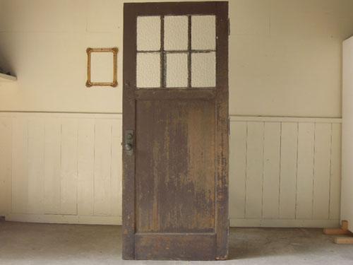 濃い茶×鉄格子,アンティーク,ヴィンテージ,ドア,玄関ドア,白,ペイント,ガラス
