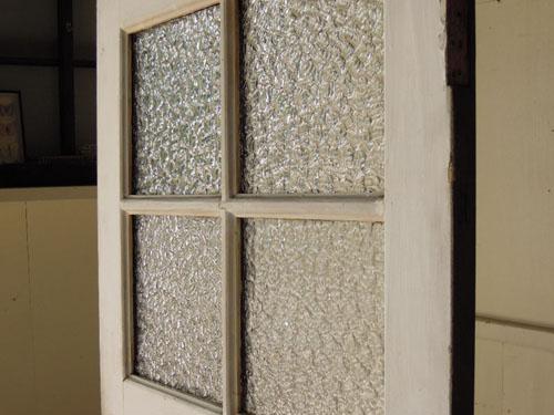 古いガラス,アンティーク,ヴィンテージ,ドア,木製ドア,白,ペイント,こげ茶,ガラス窓