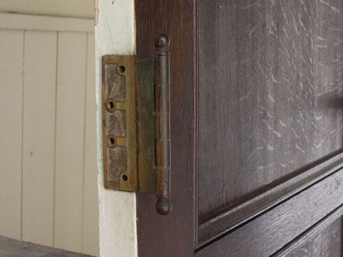 蝶番もあり,アンティーク,ヴィンテージ,ドア,玄関ドア,白,ペイント,イギリス,オーク材