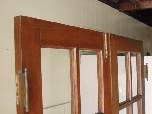 裏面上部,アンティーク,両開き扉,観音開き,ドア,建具,木製,洋館,店舗