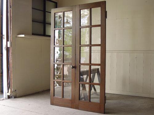 アンティーク,両開き扉,観音開き,ドア,建具,木製,洋館,店舗,リノベーション,ナラ材