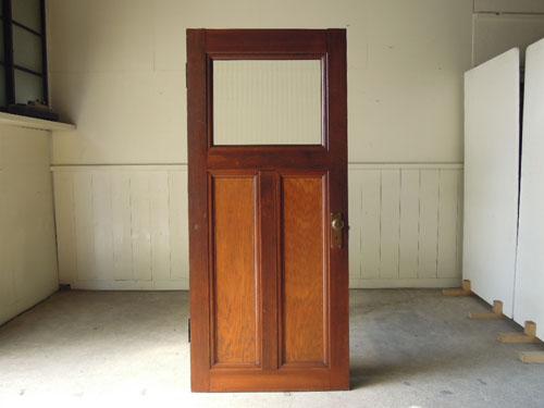 逆側の正面,アンティーク,ヴィンテージ,建具,ドア,木製,玄関ドア,モールガラス