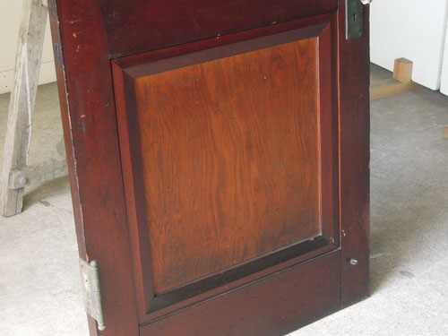 ツートーンの木の色合いも印象的,アンティーク,ヴィンテージ,ドア,玄関ドア,白,ペイント,イギリス,オーク材