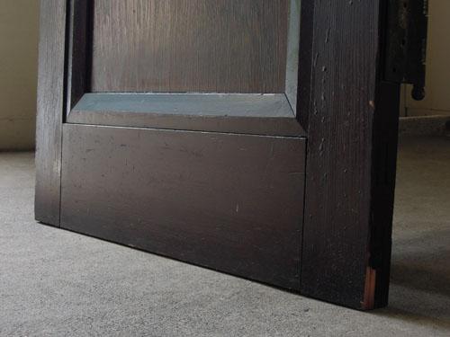脚元もきれいな状態,アンティーク,ヴィンテージ,ドア,玄関ドア,白,ペイント,イギリス,オーク材