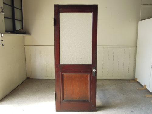 逆側の正面,アンティーク,ヴィンテージ,ドア,玄関ドア,白,ペイント,イギリス,オーク材