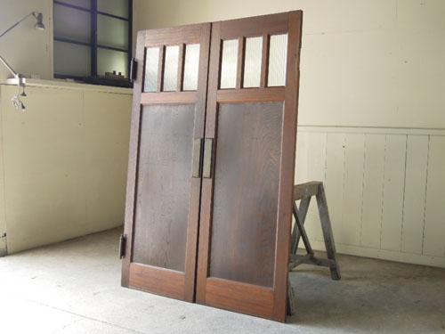アンティーク,ヴィンテージ,建具,木製,観音開き扉,両開き戸,モールガラス,ホール,店舗,ショップ
