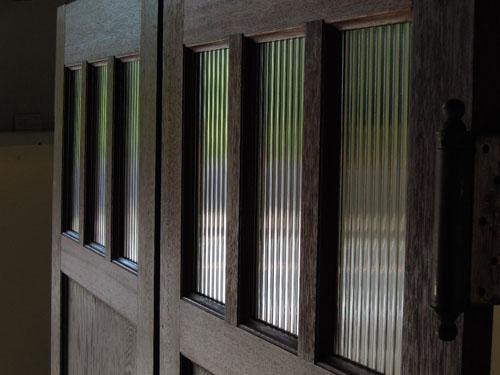 モールガラス,アンティーク,ヴィンテージ,建具,木製,観音開き扉,両開き戸