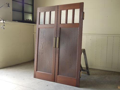 逆側,アンティーク,ヴィンテージ,建具,木製,観音開き扉,両開き戸