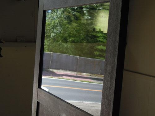 クリアガラスの窓,アンティーク,ドア,木製,建具,ペイント,ブルーグレー,アトリエ,小屋