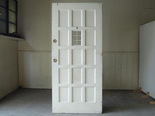 正面,アンティーク,ドア,建具,木製,ステンドグラス,格子,ペイント,白,リノベーション