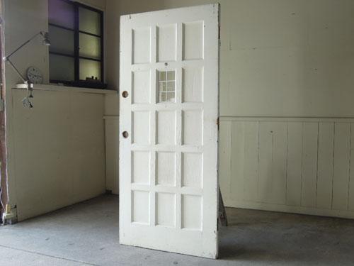 アンティーク,ドア,建具,木製,アメリカ,ステンドグラス,格子,ペイント,白,リノベーション,DIY