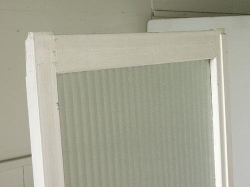 上部,アンティーク,ドア,建具,木製,ペイント,白,リノベーション,ガラス戸