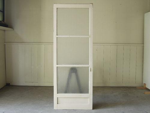 裏正面,アンティーク,ドア,建具,木製,ペイント,白,リノベーション,ガラス戸