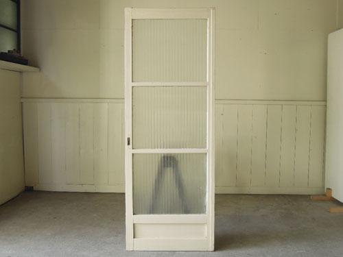 正面,アンティーク,ドア,建具,木製,ペイント,白,リノベーション,ガラス戸
