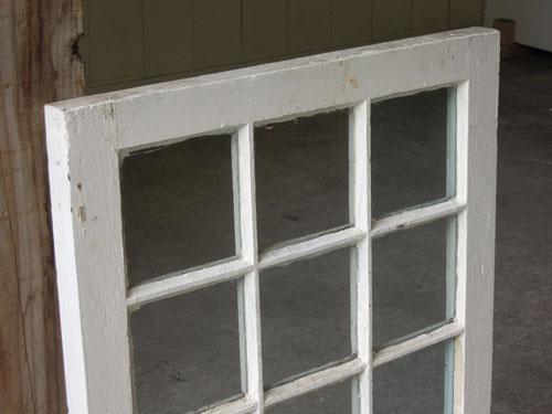 上部,アンティーク,窓,建具,木製,格子,ペイント,白,リノベーション