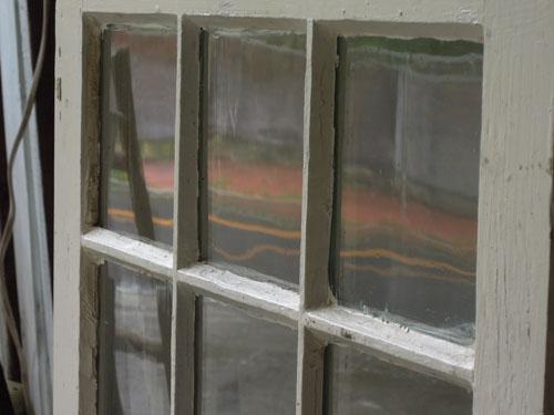 ゆらゆらガラス,アンティーク,窓,建具,木製,格子,ペイント,白,リノベーション