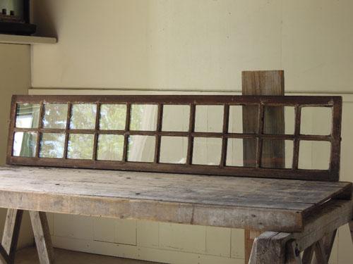 アンティーク,窓,建具,明かり取り,欄間,リノベーション,手漉きガラス,クリアガラス,格子,横長,