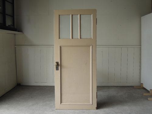 裏側正面,アンティーク,ドア,片開き戸,ペイント,白,建具,リノベーション,店舗