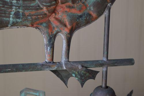 土台以外は銅製,アンティーク,風見鶏,フランス,鉄,銅,古道具,ブロカント,希少,ペリカン