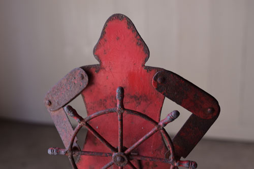 経年変化した鉄の風合い,アンティーク,オブジェ,玩具,おもちゃ,鉄製,やじろべえ,ショップ,ディスプレイ,希少