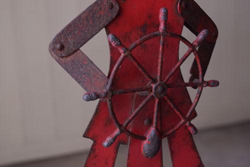 細部までよくできた造り,アンティーク,オブジェ,玩具,おもちゃ,鉄製,やじろべえ,ショップ,ディスプレイ,希少