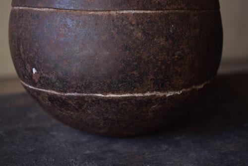 鉄の状態,アンティーク,鉄器,釣瓶,装飾,インド,ディスプレイ,コレクション,古道具,