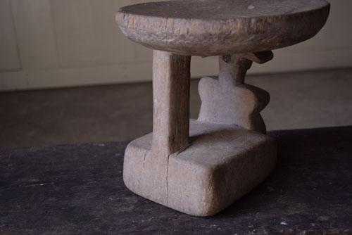 後ろ,正面,アンティーク,アフリカ,台,杯,一本彫り,スツール,木製,プリミティブ,民族