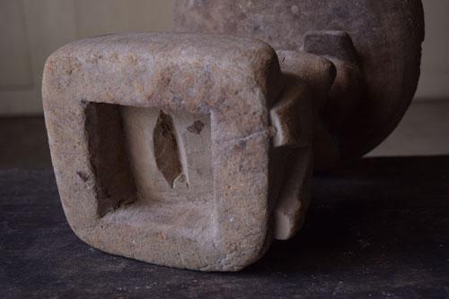 底,正面,アンティーク,アフリカ,台,杯,一本彫り,スツール,木製,プリミティブ,民族
