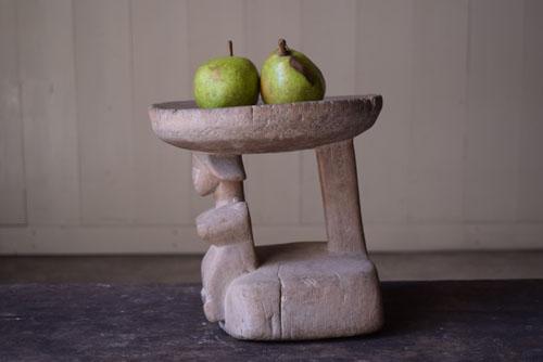 側面,正面,アンティーク,アフリカ,台,杯,一本彫り,スツール,木製,プリミティブ,民族