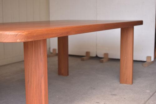 アンティーク,ヴィンテージ,北欧家具,デンマーク,チーク材,ダイニングテーブル,天板厚